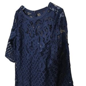 Ann Taylor Loft lace navy dress size 8 NWT!!!